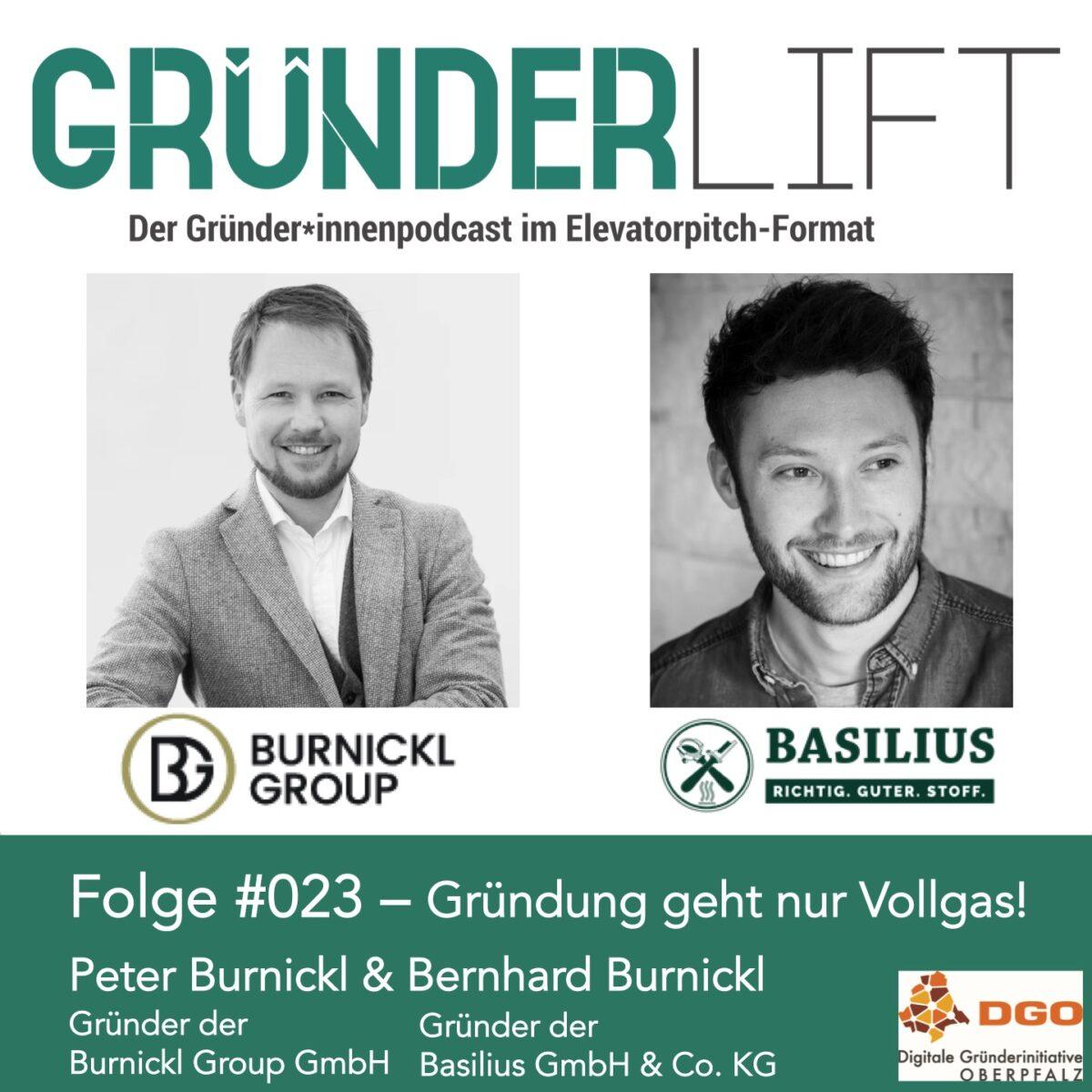 Peter und Bernhard Burnickl im Gründerlift Podcast